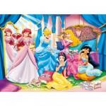 Puzzle 250 pièces - Princesses Disney : Essayage de bijoux
