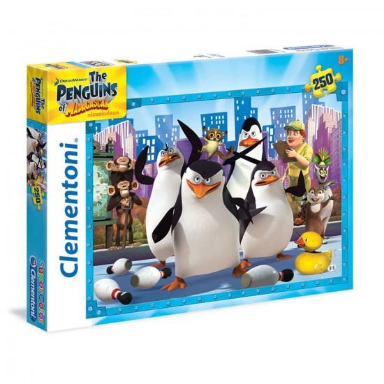 Puzzle 250 pièces : Les pingouins de Madagascar - Clementoni-29727