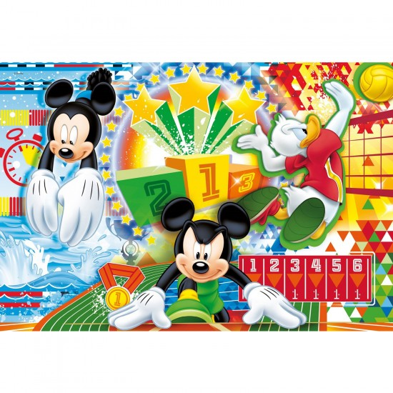 Puzzle 250 pièces : Mickey sport : Football - Clementoni-29714