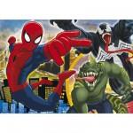 Puzzle 250 pièces : Ultimate Spiderman Que le combat commence !