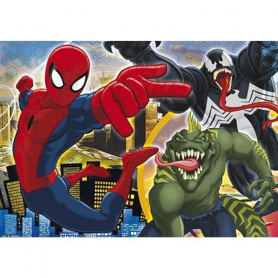 Puzzle 250 pièces : Ultimate Spiderman Que le combat commence ! - Clementoni-29681