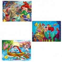 Puzzle 3 x 48 pièces - Princesses Disney : Ariel la petite sirène