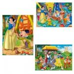 Puzzle 3 x 48 pièces - Princesses Disney : Blanche Neige et les sept nains