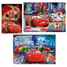 Puzzle 3 x 48 pièces : Cars 2