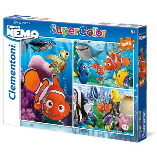 Puzzle 3 x 48 pièces : Le monde de Nemo - Clementoni-25190