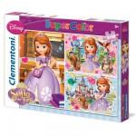Puzzle 3 x 48 pièces : Princesse Sofia