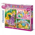 Puzzle 3 x 48 pièces : Princesses Disney