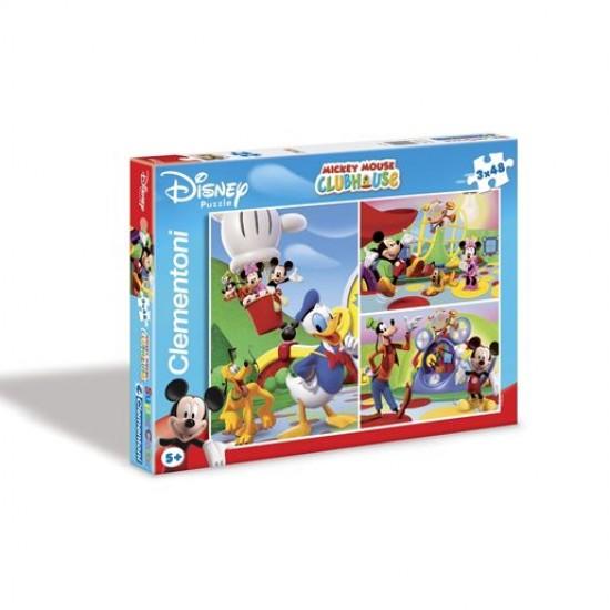 Puzzle 3 x 48 pièces - Mickey et ses amis - Clementoni-25106-Mickeyfriends