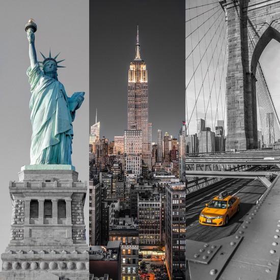 Puzzle 3 x 500 pièces : Triptyque : New York - Clementoni-39305