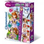 Puzzle 30 pièces maxi : Puzzle Double Fun Toise Princesse Sofia
