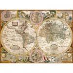 Puzzle 3000 pièces - Vieille carte du monde