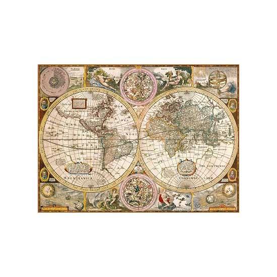 puzzle 3000 pi ces vieille carte du monde puzzle. Black Bedroom Furniture Sets. Home Design Ideas