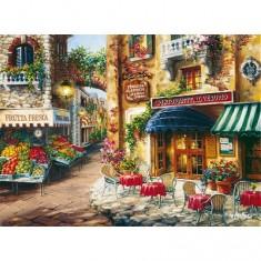 Puzzle 3000 pièces - Village fleuri
