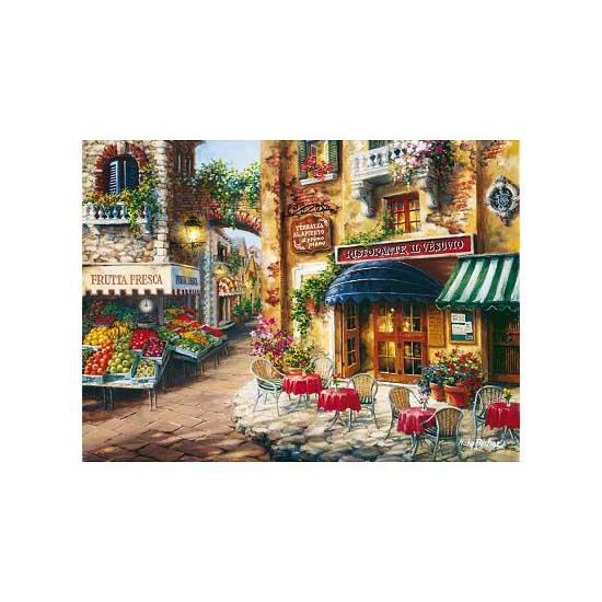 Puzzle 3000 pièces - Village fleuri - Clementoni-33530