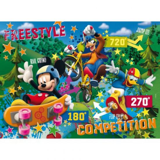 Puzzle 104 pièces - Effet 3D : Mickey et ses amis - Clementoni-20054
