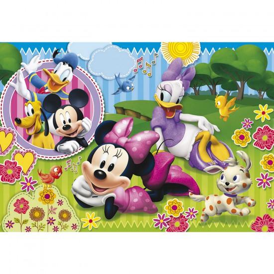 Puzzle 40 pièces : Puzzle de sol Minnie et Daisy en plein rêve - Clementoni-25439