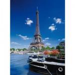 Puzzle 500 pièces - Paris : La Tour Eiffel depuis la Seine