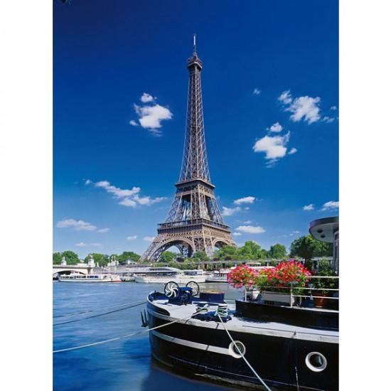 Puzzle 500 pièces - Paris : La Tour Eiffel depuis la Seine - Clementoni-30302