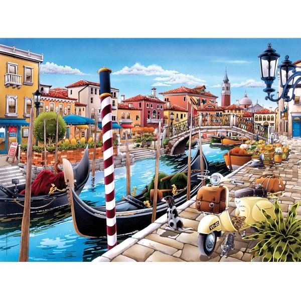 Puzzle 500 pièces : Canal à Venise - Clementoni-35026