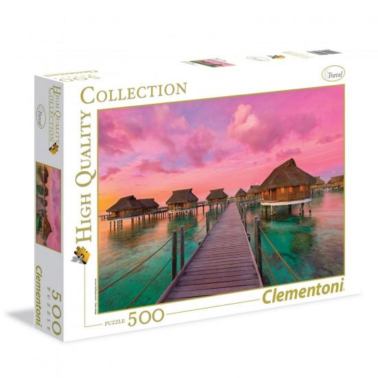 Puzzle 500 pièces : Colorful Paradise - Clementoni-35016
