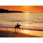 Puzzle 500 pièces : Coucher de soleil sur la plage