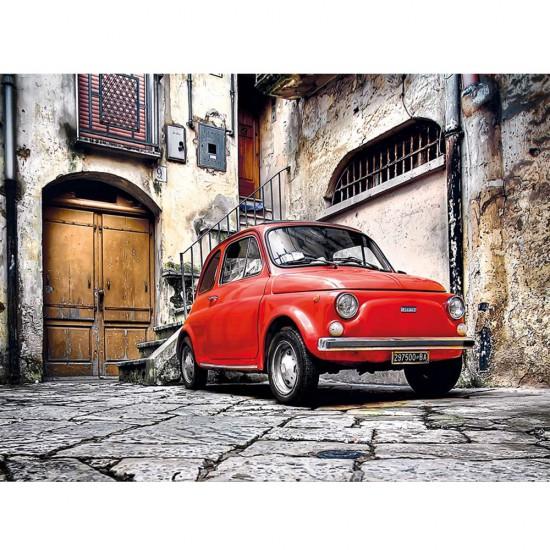 Puzzle 500 pièces : Fiat 500 - Clementoni-30575