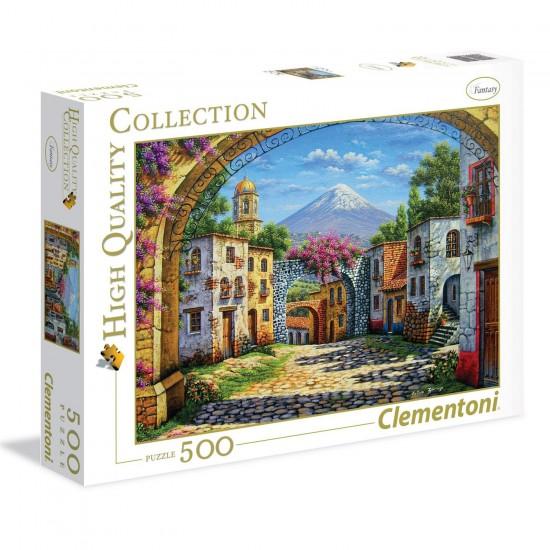 Puzzle 500 pièces : Le Volcan - Clementoni-35025