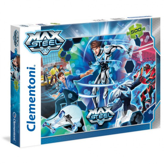 Puzzle 500 pièces : Max Steel : Go turbo flight - Clementoni-30452