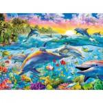 Puzzle 500 pièces : Paradis des dauphins