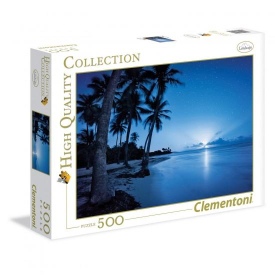 Puzzle 500 pièces : Rising Moon - Clementoni-35023