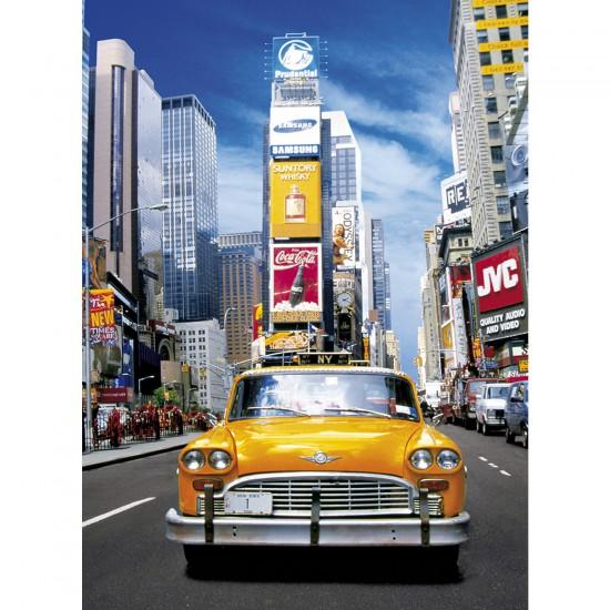 Puzzle 500 pièces : Taxi à Times Square - Clementoni-30338