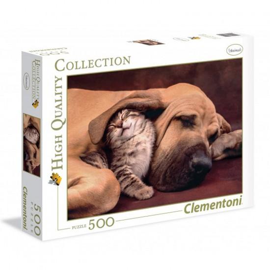 Puzzle 500 pièces : Tendresse animale - Clementoni-35020