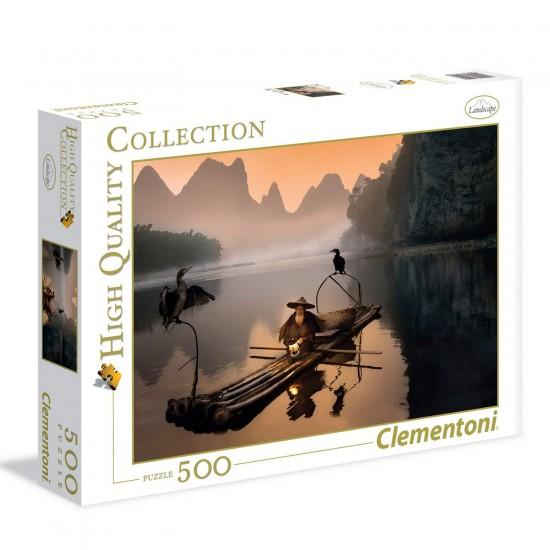 Puzzle 500 pièces : Vieux pêcheur - Clementoni-35022