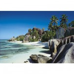 Puzzle 500 pièces - Plage des Seychelles