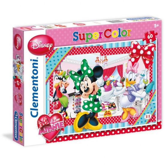 Puzzle 60 pièces : I Love Minnie : Parfum - Clementoni-26902