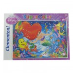 Puzzle 60 pièces : La Petite Sirène et le tourbillon