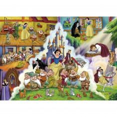 Puzzle 60 pièces : Les aventures de Blanche Neige