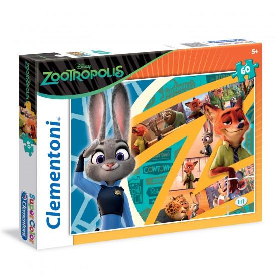 Puzzle 60 pièces : Zootopie - Clementoni-26959