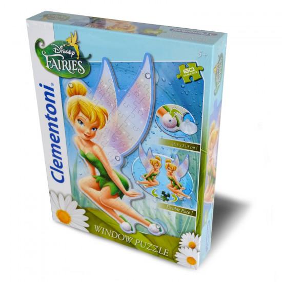 Puzzle 60 pièces double face : Window Puzzle : Disney Fairies - Clementoni-20113