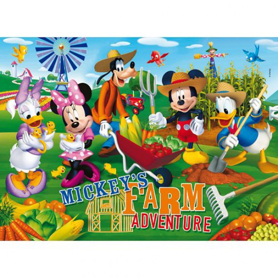 Puzzle 60 pièces maxi - Mickey et ses amis : Bienvenue à la ferme - Clementoni-26736