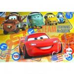 Puzzle 60 pièces maxi : Cars : Team Flash McQueen