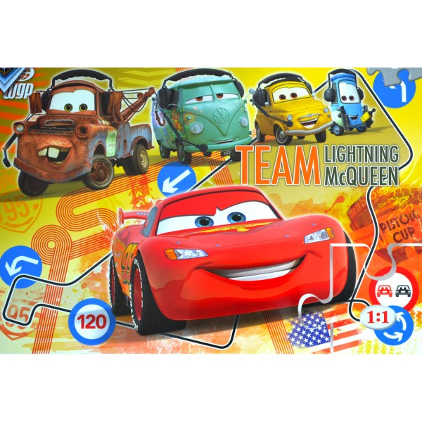 Puzzle 60 pièces maxi : Cars : Team Flash McQueen - Clementoni-26739