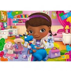 Puzzle 60 pièces maxi : Docteur la peluche : Ma chambre est mon cabinet
