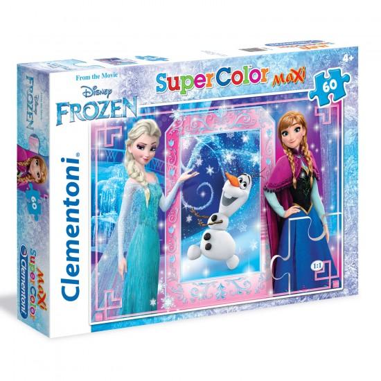 Puzzle 60 pièces Maxi : La Reine des Neiges - Clementoni-26411