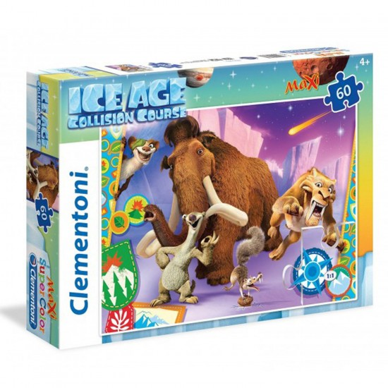 Puzzle 60 pièces Maxi : l'Âge de Glace 5 - Clementoni-26583