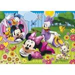 Puzzle cadre 15 pièces : Après-midi bucolique pour Minnie et Daisy