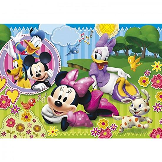 Puzzle cadre 15 pièces : Après-midi bucolique pour Minnie et Daisy - Clementoni-22074-22219-2