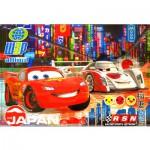 Puzzle cadre 15 pièces : Cars 2 : Flash McQueen au Japon