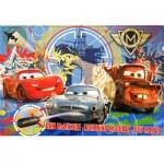 Puzzle cadre 15 pièces : Cars 2 : Flash McQueen, Martin et Finn McMissile