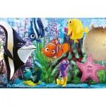 Puzzle cadre 15 pièces : Le monde de Nemo : Les amis de l'aquarium